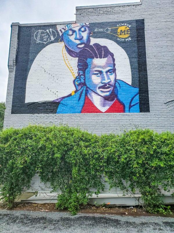 Allen Iverson mural, Raleigh
